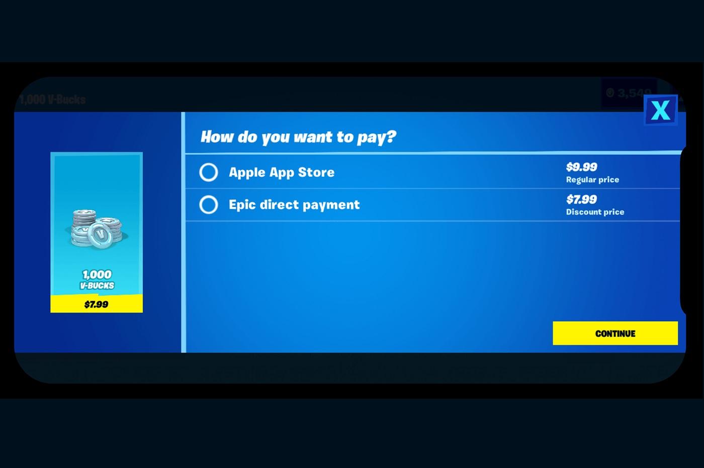 Epic Games entre en guerre contre l'App Store — Fortnite