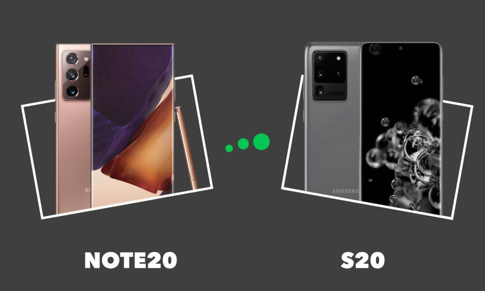 Samsung Galaxy Note 20 vs S20