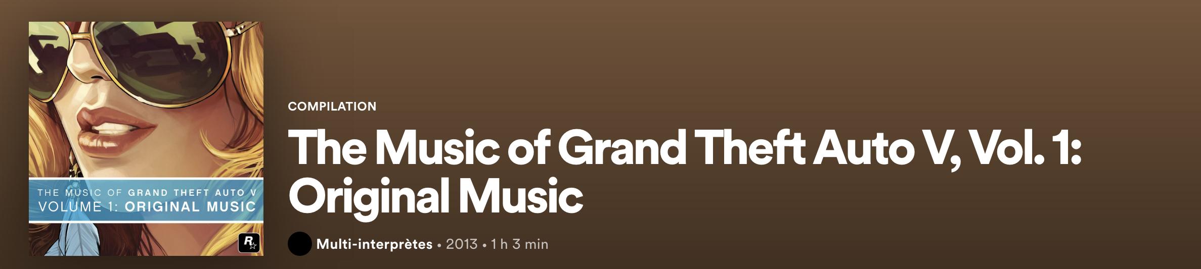 Grand Theft Auto V - Spotify