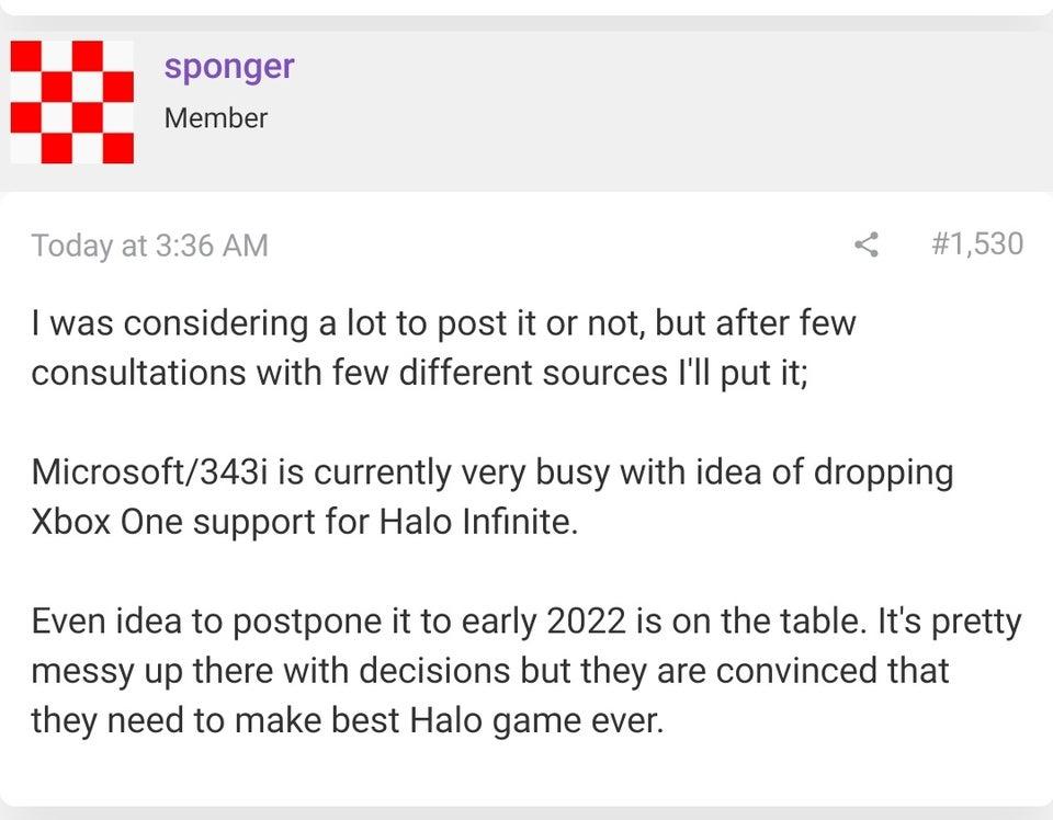 Message Halo Infinite 2022