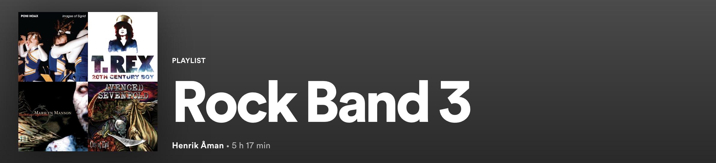 Rock Band 3 Spotify