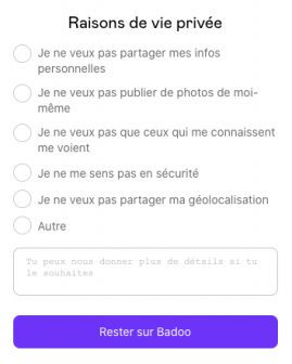 Supprimer definitivement Badoo 2