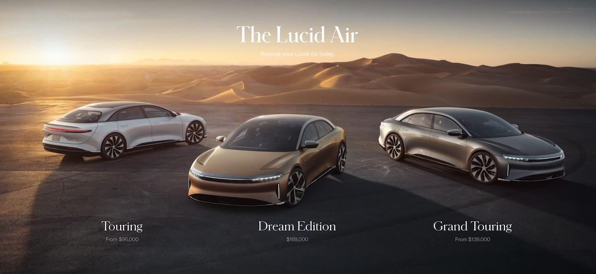 Prix Lucid Air 2021