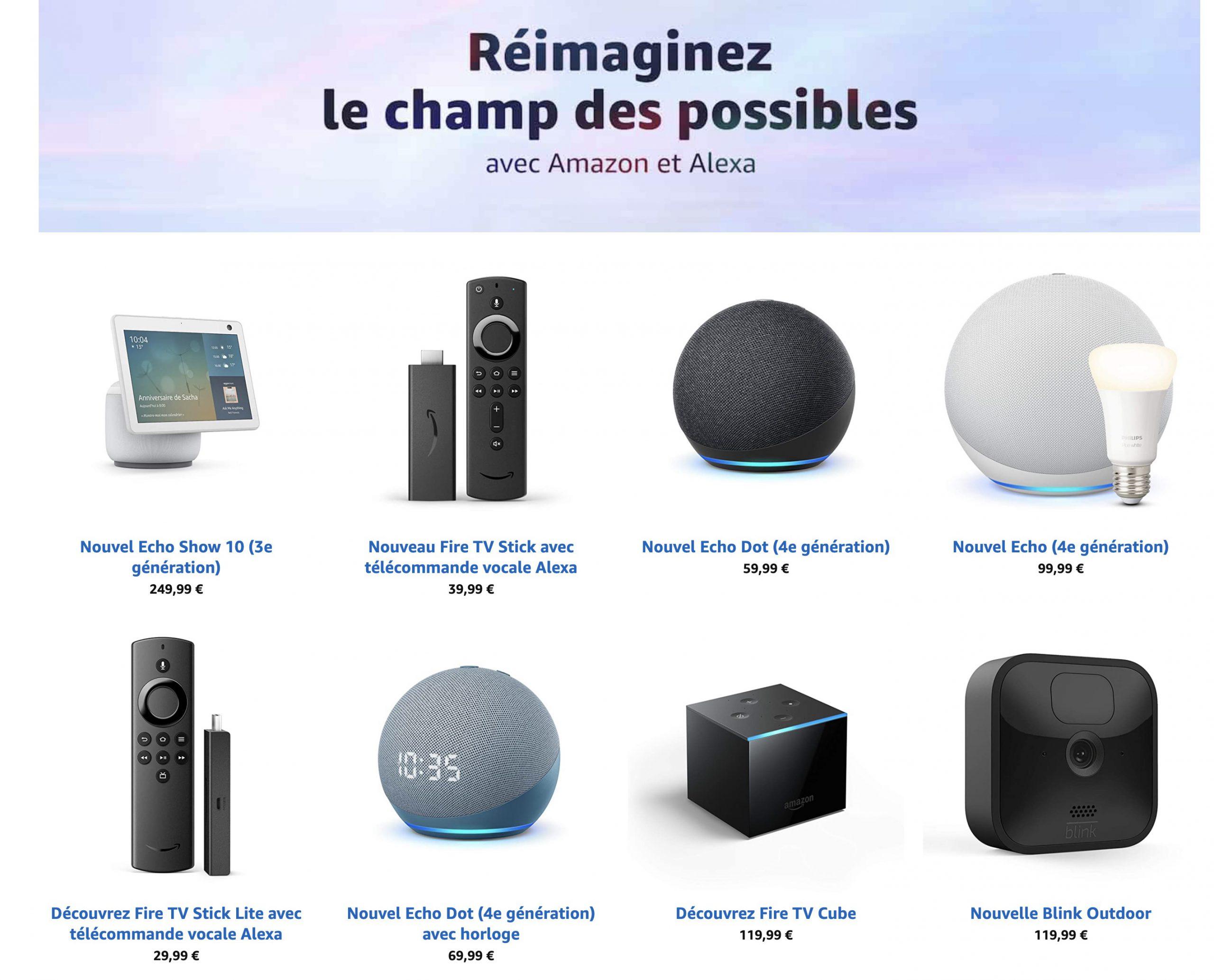 Nouveaux Amazon Echo