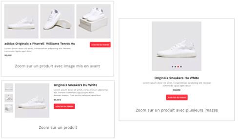 Choix mise en page produits