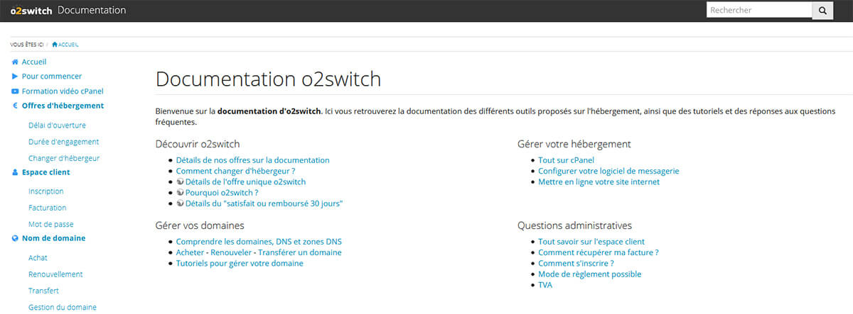 Documentation o2switch