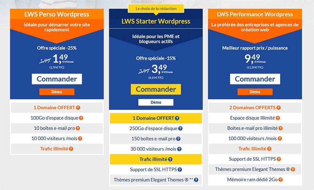 Hébergement WordPress LWS