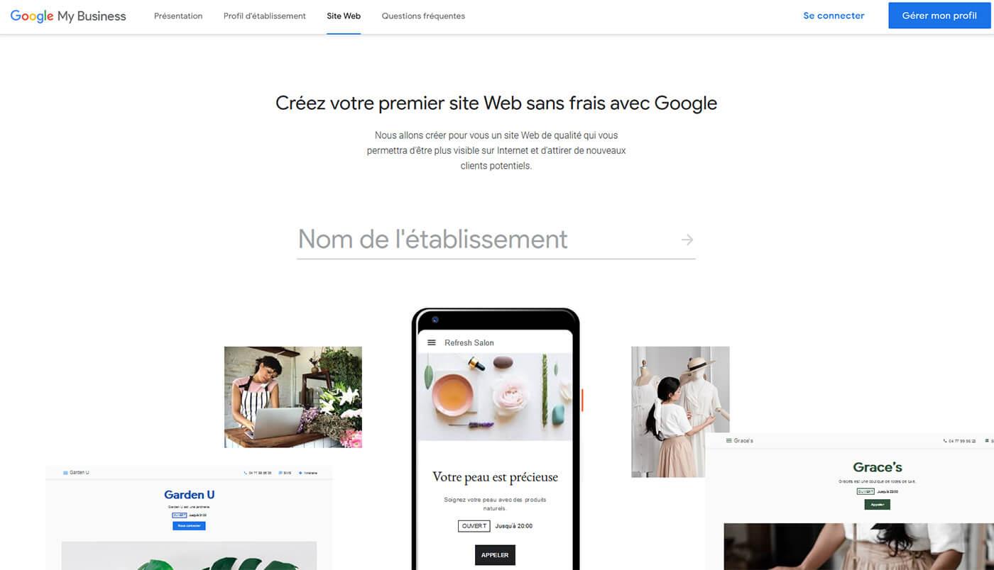 Hébergement web gratuit Google