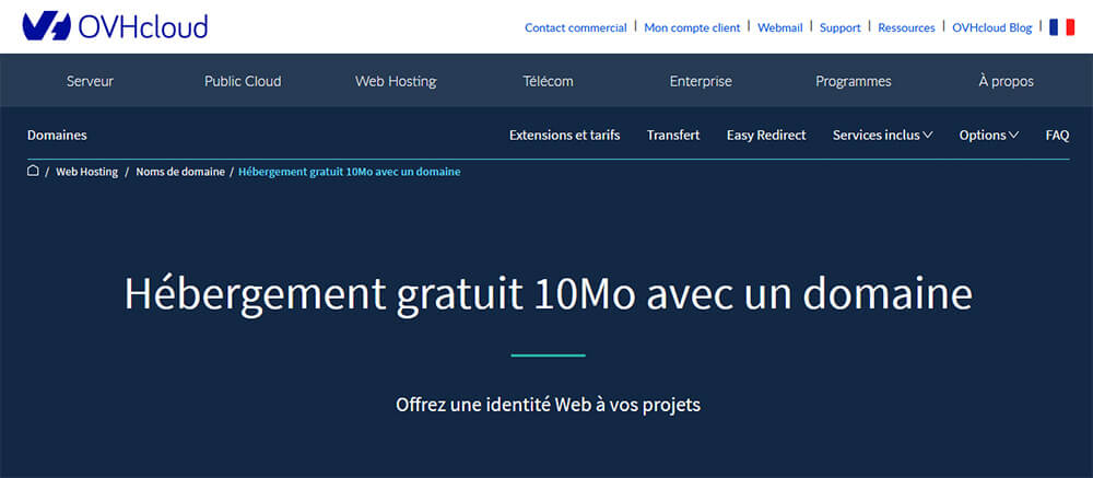 Hébergement web gratuit OVH