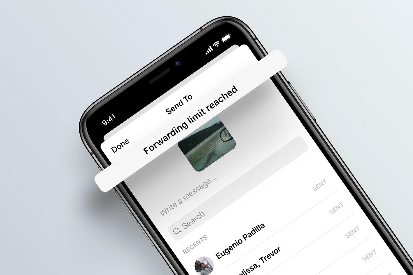 Limitation des transferts sur Facebook Messenger