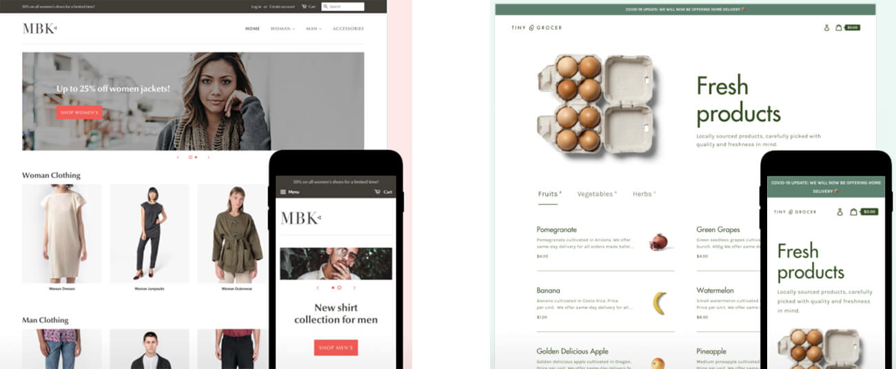 Templates Shopify