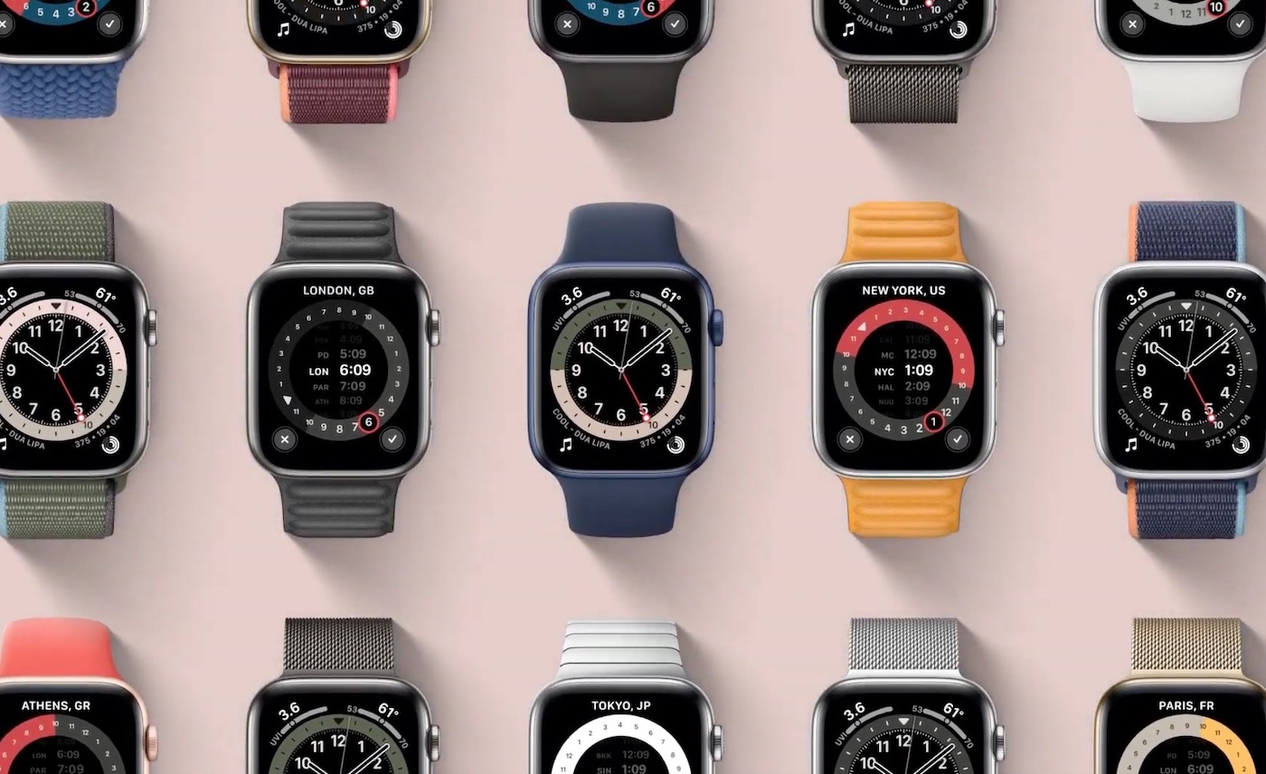 Apple Watch Series 6 cadrans