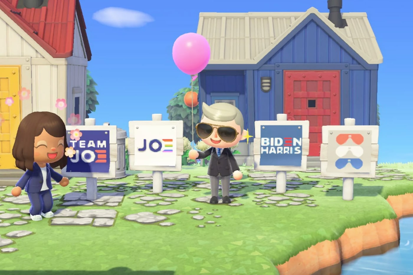 Biden sur Animal Crossing