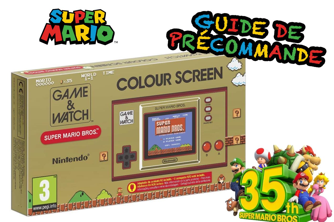 Guide Précommande Game & Watch Super Mario 35th Anniversary
