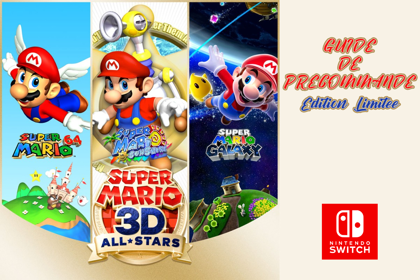 Guide Précommande Super Mario 3D-All Stars