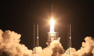 la fusée Long March en Chine