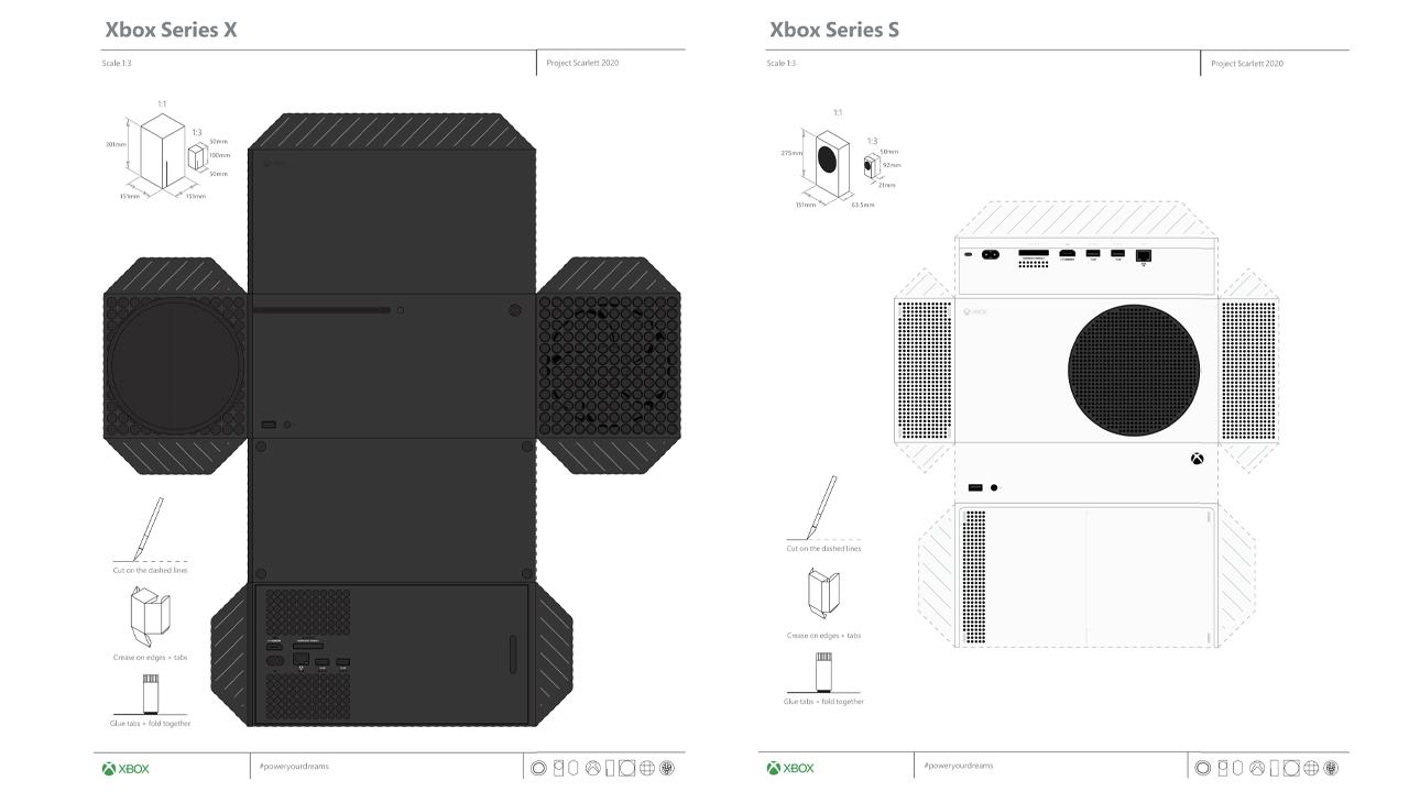 Plan Xbox Series X et Series S Papier