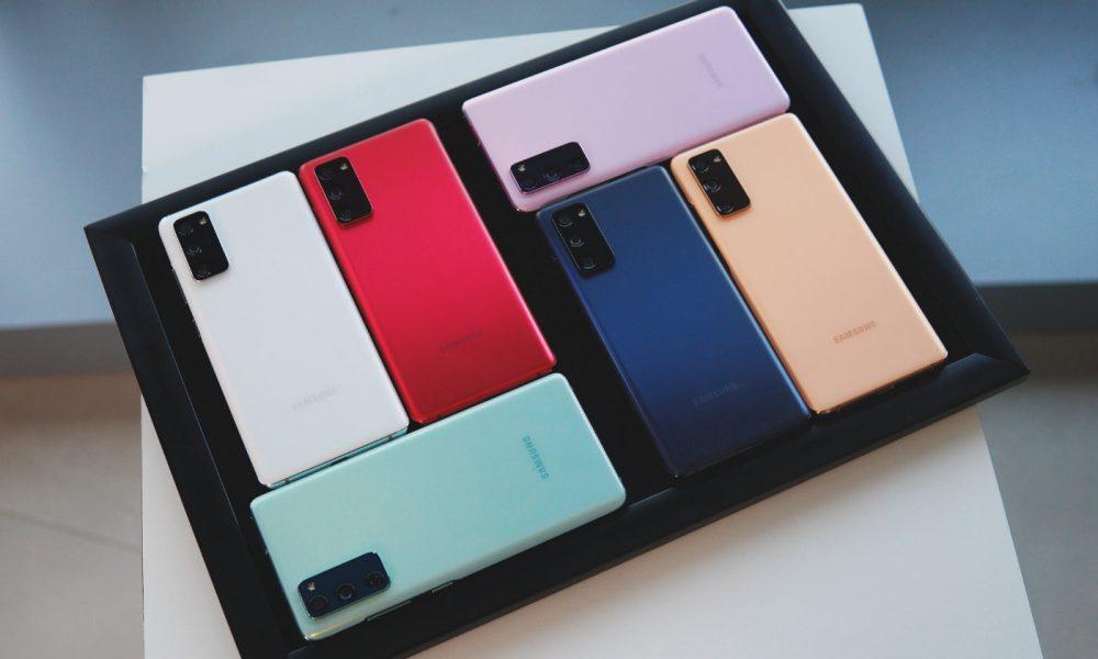 Samsung Galaxy S20 Fan edition coloris