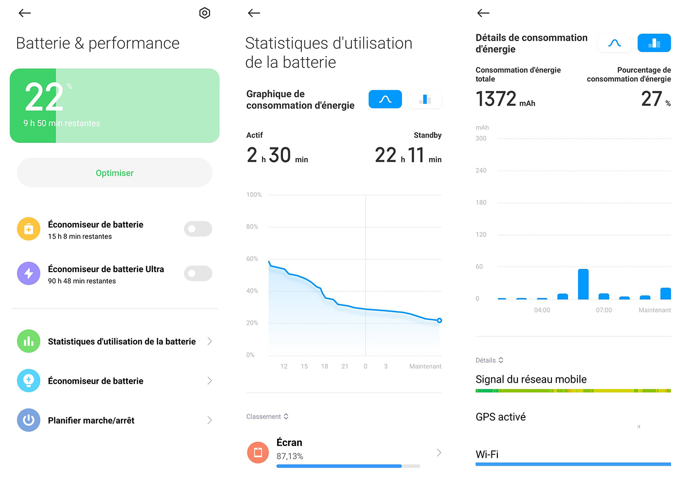 Autonomie du Xiaomi Poco X3 NFC