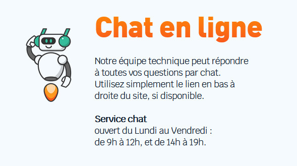 Chat en ligne Support o2switch