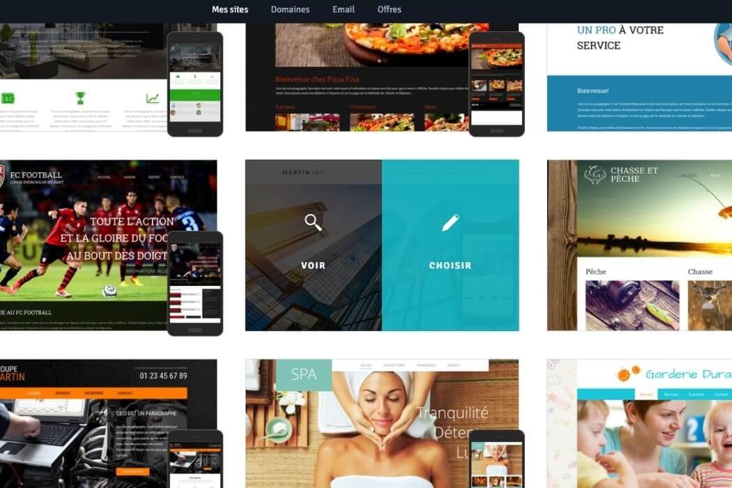 Choix thèmes Webself