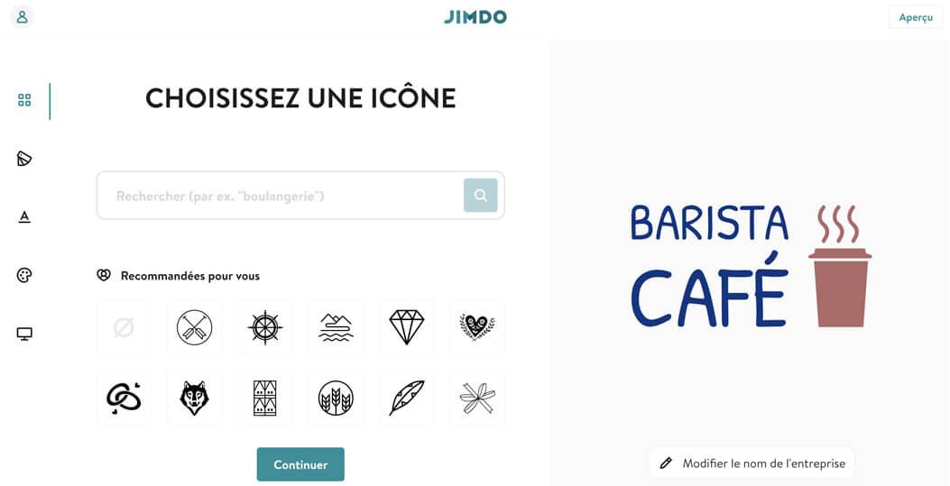 Createur logo Jimdo