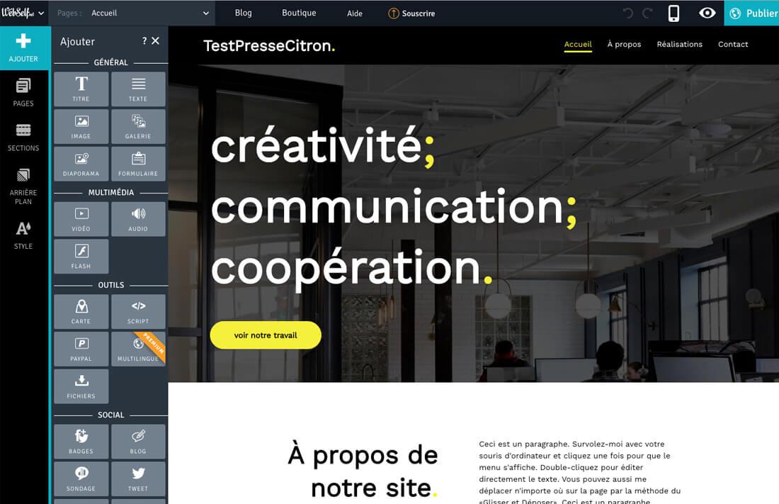 Editeur WebSelf