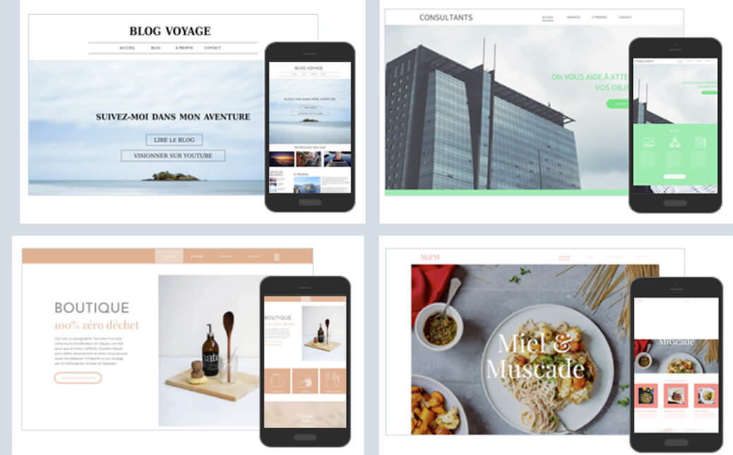 Exemples designs sites WebSelf