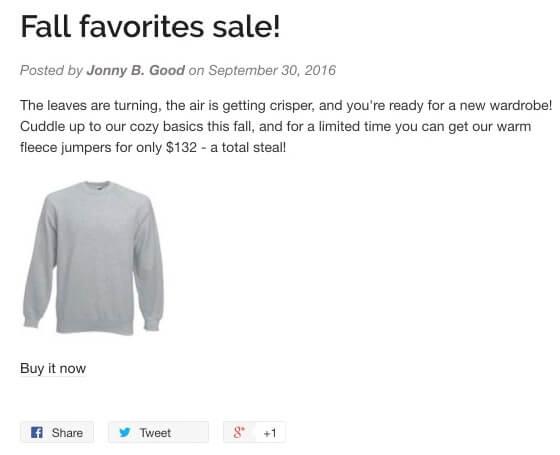 Fonction Partage Shopify