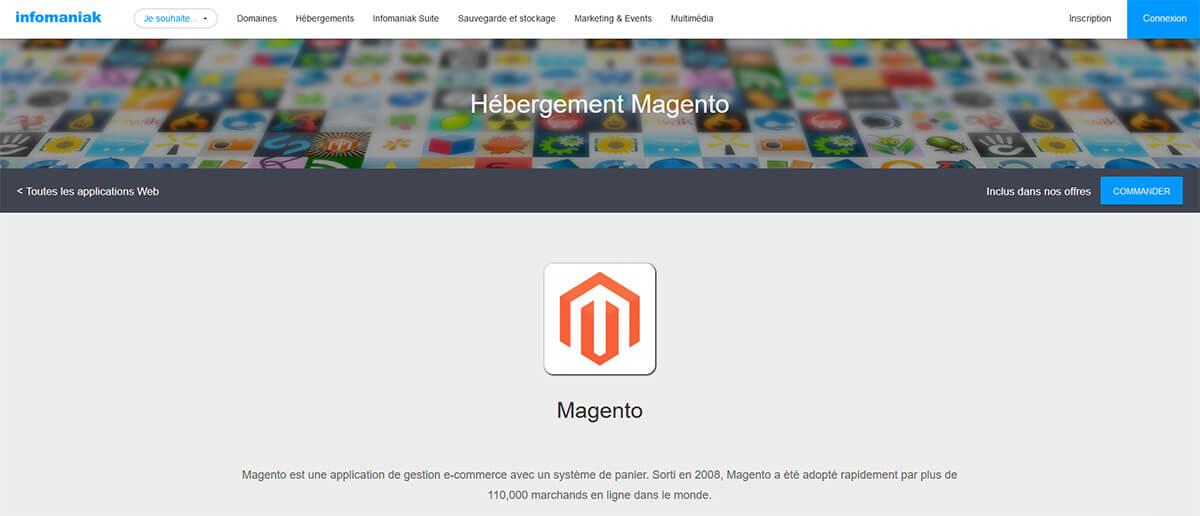 Hébergement Magento Infomaniak