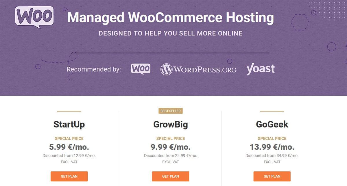 Hébergement WooCommerce SiteGround