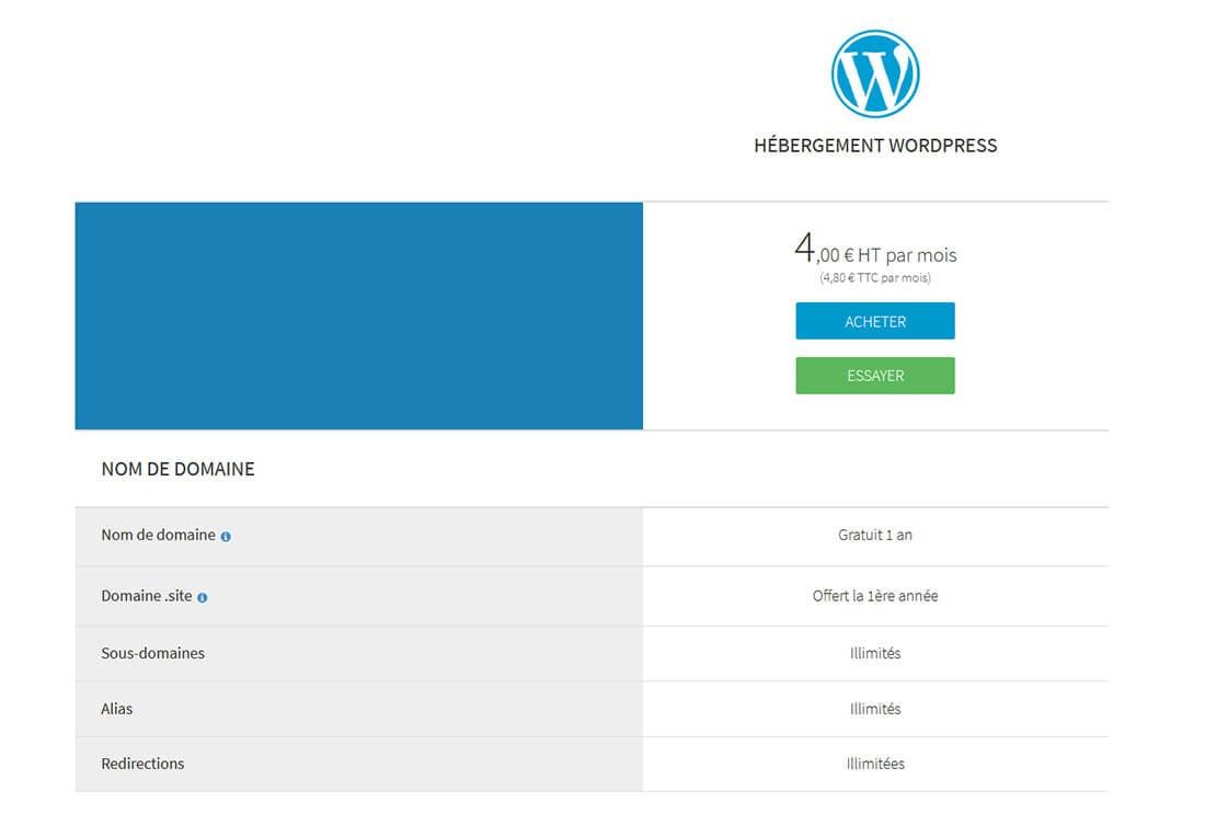 Hébergement WordPress Amen