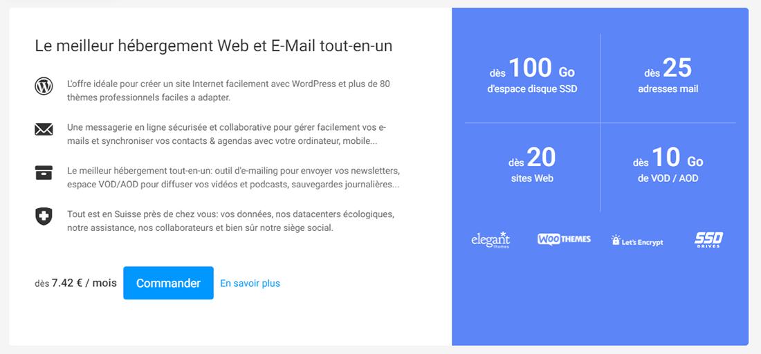Hébergement web et mail Infomaniak