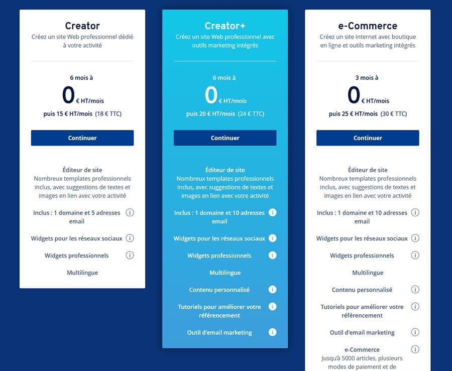 Hébergement web gratuit IONOS