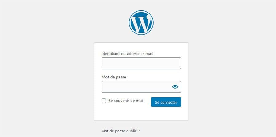 Interface administration WordPress