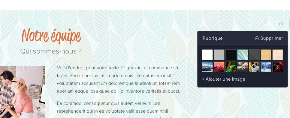 Modification design site Webnode