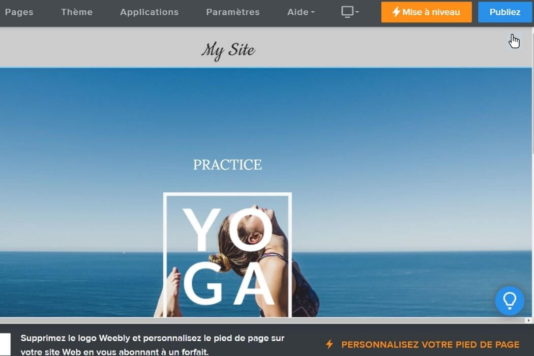 Publication site Weebly