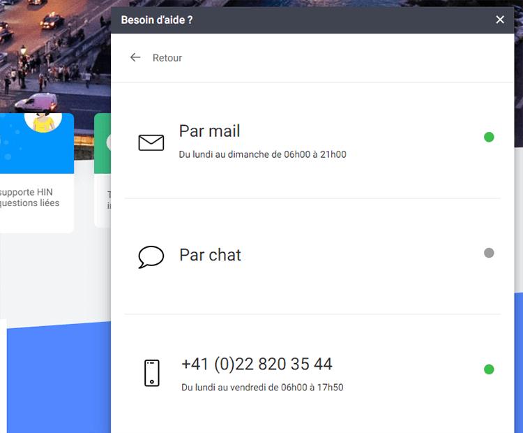 Support client Infomaniak