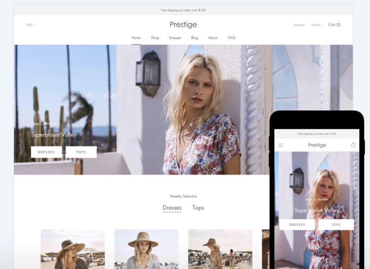 Template responsive Shopify