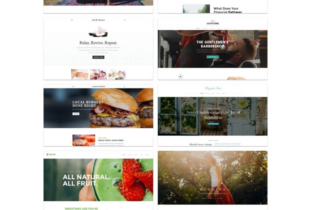 Thèmes Weebly