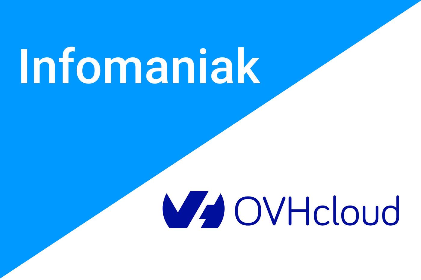 Comparatif OVH vs Infomaniak