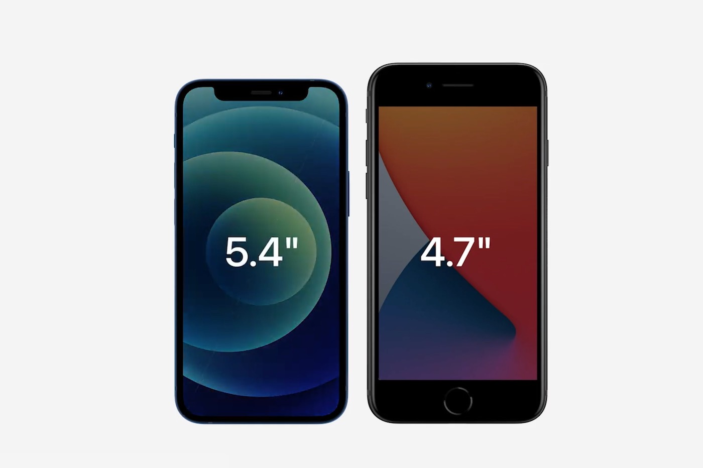 iPhone 12 Mini taille comparaison