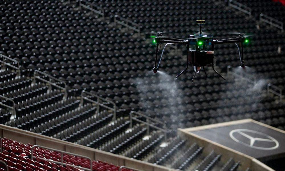 Lucid drone desinfectant