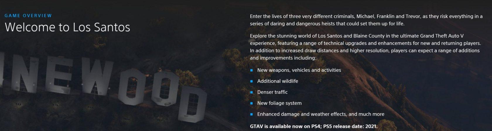 Nouveautés GTA V sur PS5 et Xbox Series X