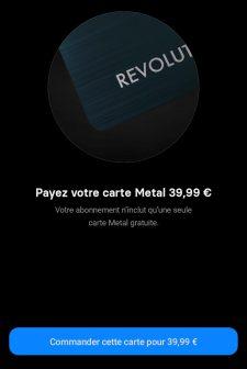 Prix de la carte métal Revolut