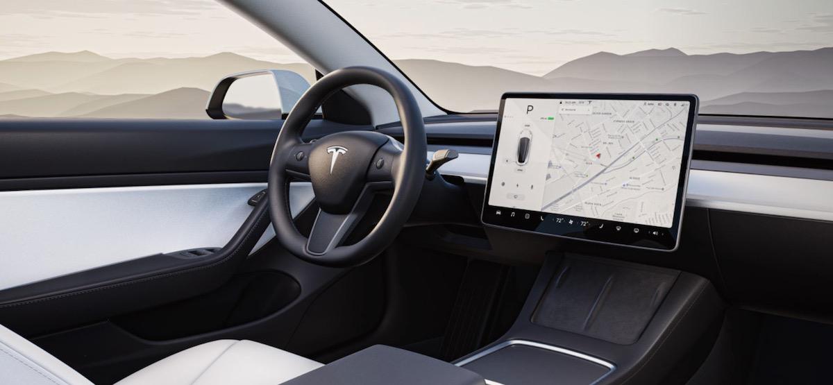Tesla Model 3 habitacle 2020