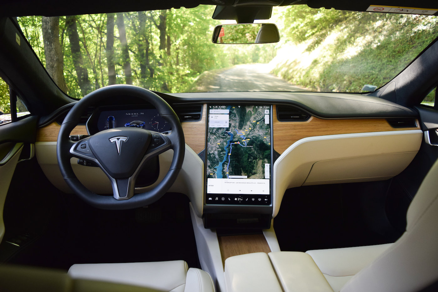 Tesla Model S habitacle