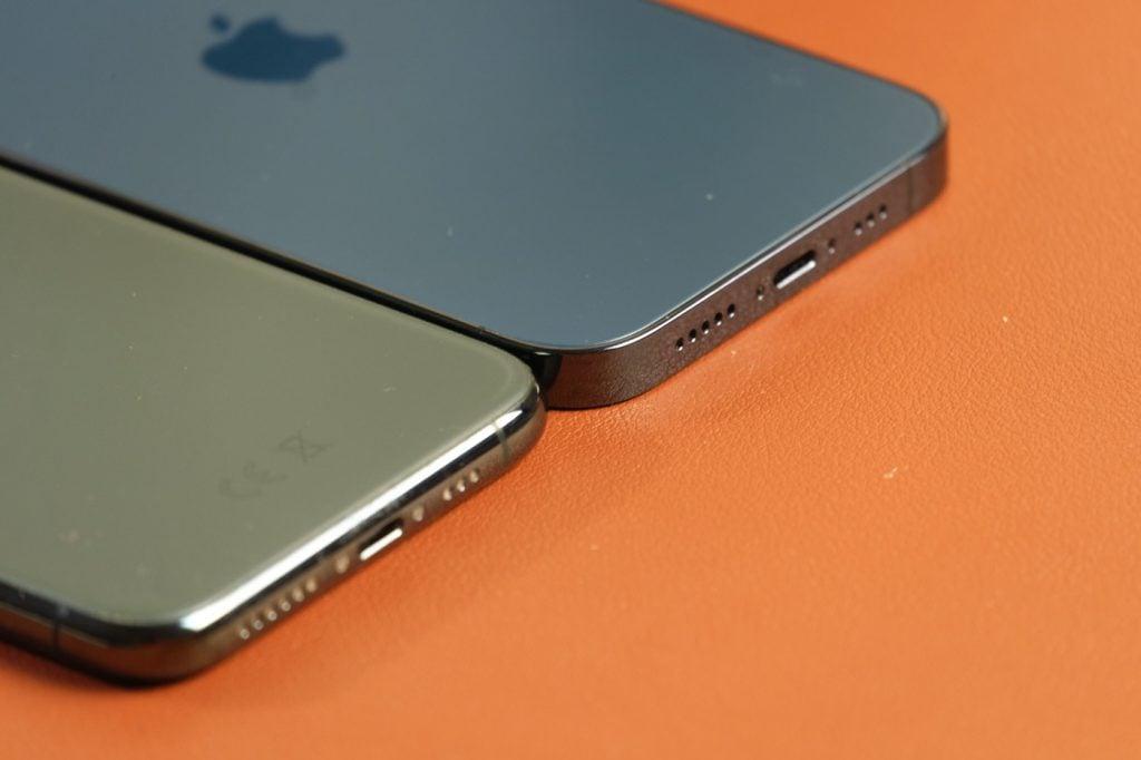 test iphone 12 pro bordures plates