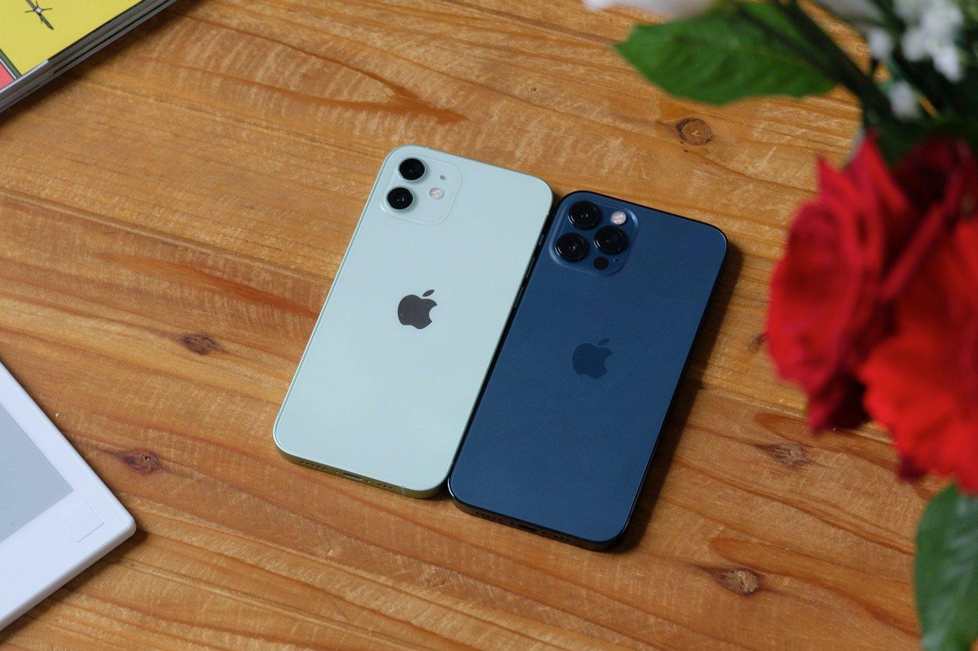 test iphone 12 vs pro design