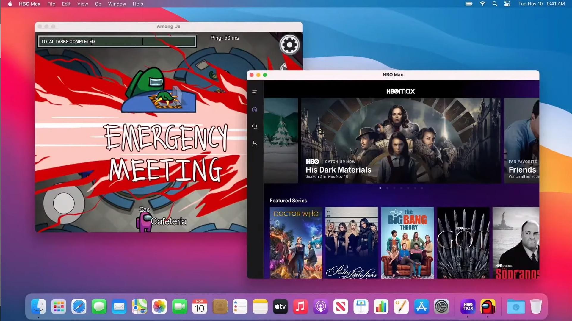 Application iOS sur MacOS